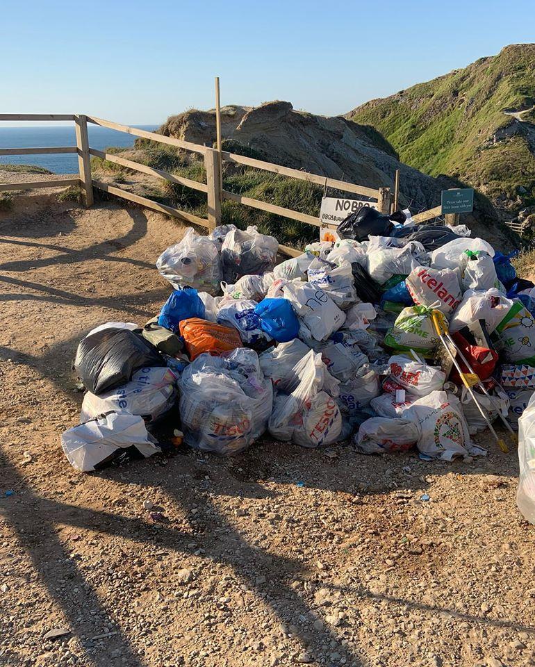 Beach Litter, Durdle Door, Dorset UK