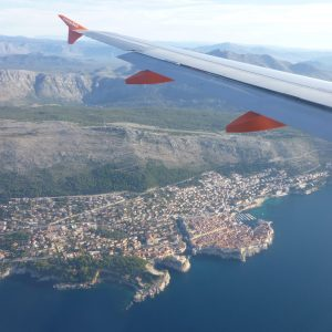 Seated LEFT Arrival into Dubrovnik, Croatia