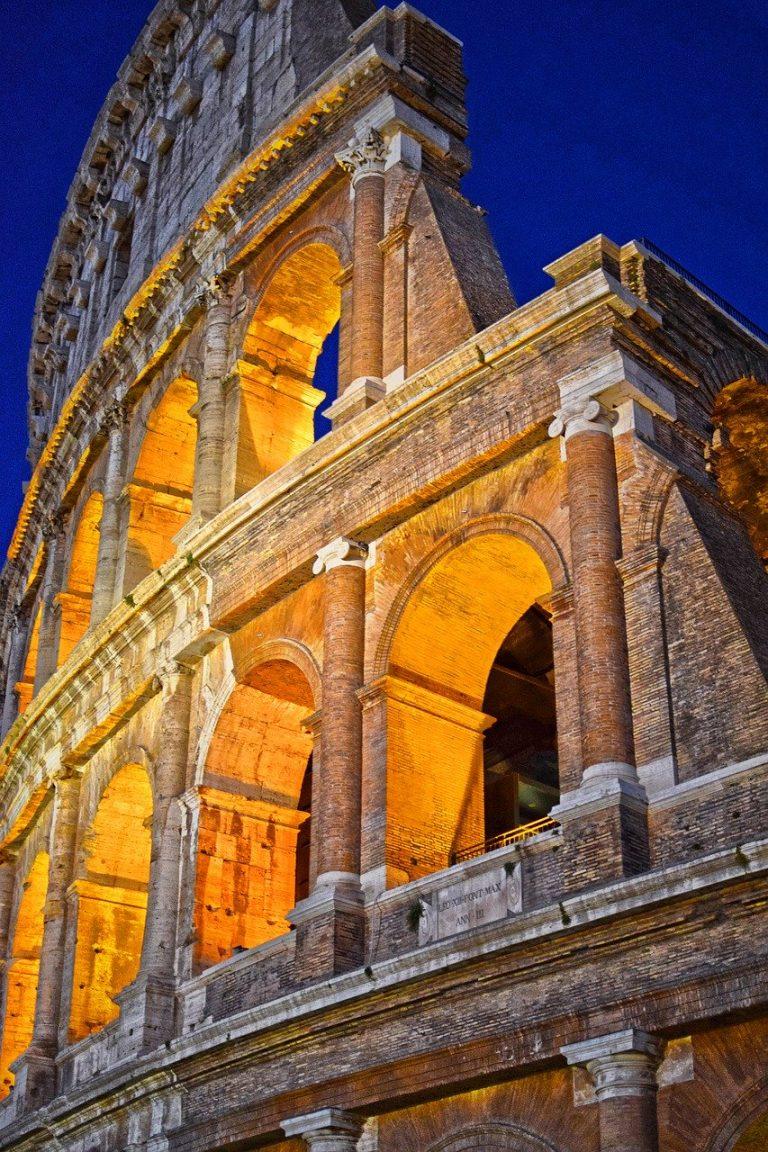 colosseum, coliseum, rome at night