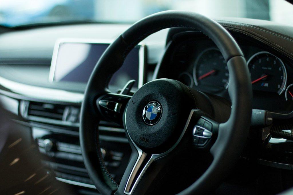 Car hire bmw, steering wheel, vehicle