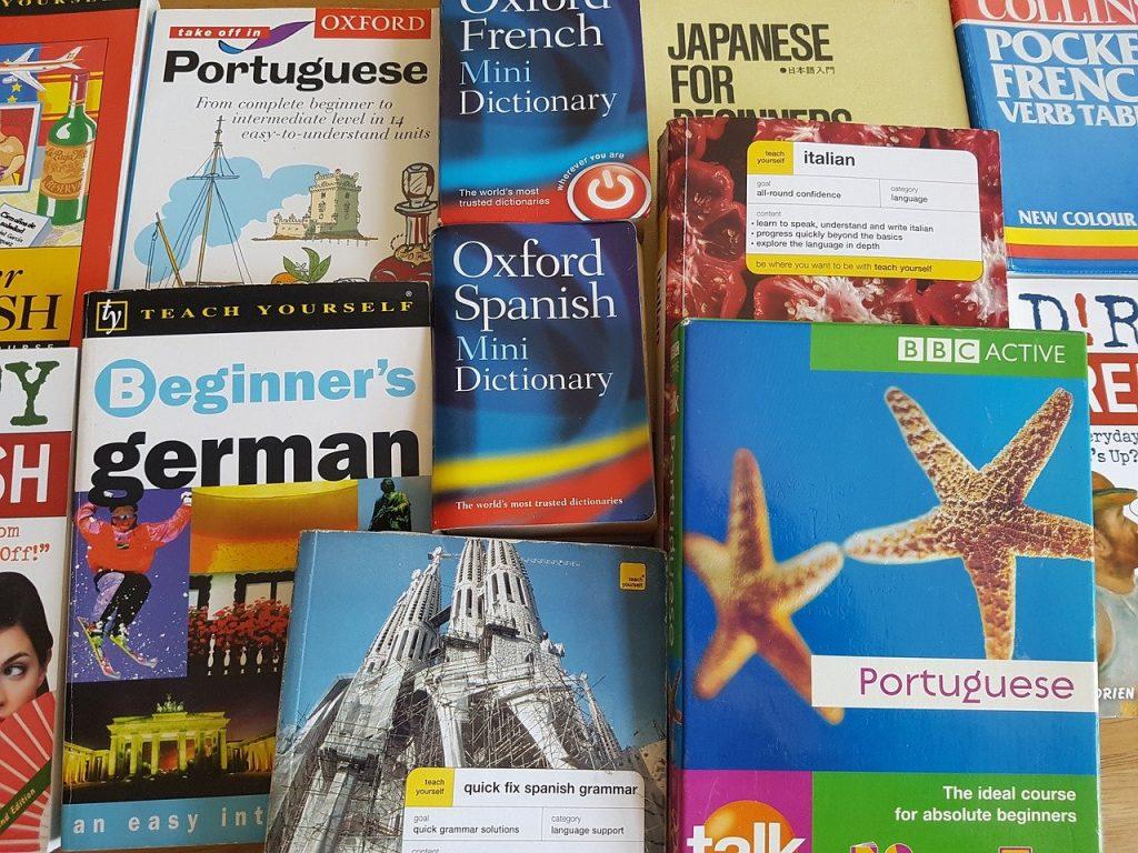 language, learning, books